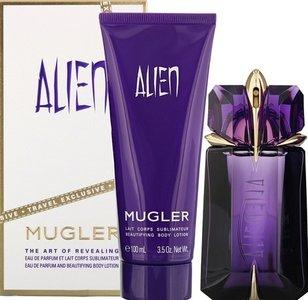 Mugler Alien gift set 60 ml eau de parfum Refillable Spray +10 ml edp + 50 ml body lotion