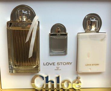 Chloe Love Story gift set 75 ml eau de parfum + 5 ml edp mini + 100 ml body lotion