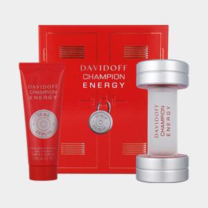 Davidoff Champion Energy gift set  50 ml eau de toilette + 75 ml hair & body shampoo