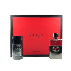 Gucci Guilty pour homme gift set 50ml eau de toilette +75ml deodorant stick
