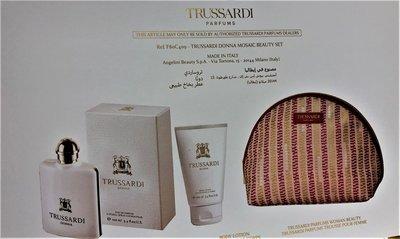Trussardi Donna Gift Set 100ml eau de parfum + 100ml  bodylotion + toilettas
